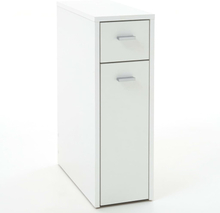 FMD Byrå med 2 lådor 20x45x61 cm vit