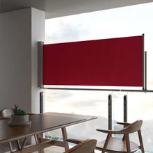 vidaXL Infällbar sidomarkis 100x300 cm röd