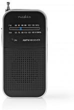 FM-radio | Portabel design | AM / FM | Batteridriven | Analog | 1.5 W | Svart Vit Skärm | Hörlursuttag | Svart/Aluminium