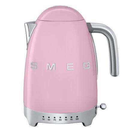 Smeg - Smeg Vannkoker med temperatur 1,7L, Pastellrosa