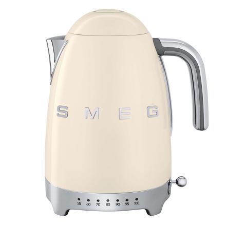 Smeg - Smeg Vannkoker med temperatur 1,7L, Creme