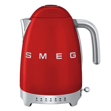 Smeg - Smeg Vannkoker med temperatur 1,7L, Rød