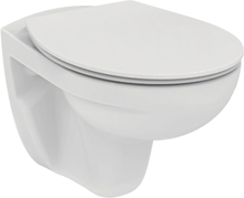 Børma Eurovit vegghengt toalett, rimless, m/toalettsete, hvit