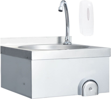 kommerciel håndvask med vandhane rustfrit stål