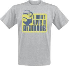 Minions - I Don't Give A Blumock -T-skjorte - gråmelert