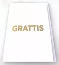 Victoria's Design Grattiskort med kuvert Vitt med guldtext 13x19 cm