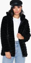 Jacqueline de Yong Jdyevan Long Fake Fur Hood Jacket O Faux Fur