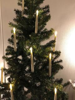 LED Juletræslys med fjernbetjening 6 stk