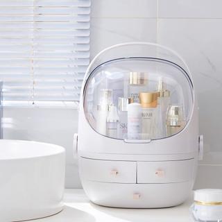 Praktisk Makeup organizer i plast/akryl med skuffer og aftagelig top