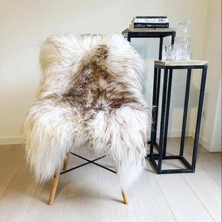 Lammeskind-Islandsk-krøllet-Langhåret-Hvid/Brun
