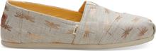 TOMS Schuhe Goldene Libellen Leinen Classics Für Damen - Größe 39