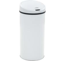 vidaXL Soptunna med sensor 52 L vit
