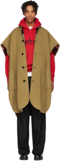 Burberry Reversible Beige Wool Check Poncho