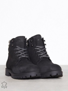 Jack & Jones Jfwstoke Nubuck Boot Mono Black Noo Støvler Sort