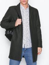 Selected Homme Slhbrove Wool Coat B Noos Takit Tummanvihreä
