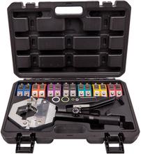 A/C Hydraulic Hose Crimper Air Conditioning Repair Crimping Hand Tools Die Set
