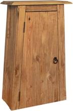 vidaXL Väggskåp badrum massiv återvunnen furu 42x23x70 cm