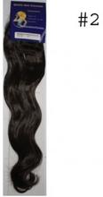 #2 Mörkbrun, 50cm, Body wave Clip-on syntetiskt