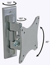 Perel Svingbar monteringsbrakett for flatskjerm 25-38 cm sølv CWB008