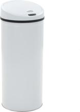 vidaXL Soptunna med sensor 62 L vit