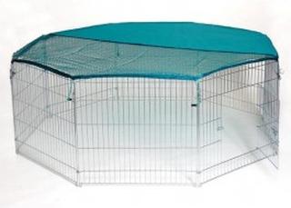 Stor Trixie løbegård til killinger og katte i galvaniseret stål