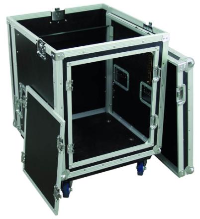 rack-kasse 19'' m. mikser-top, 10 + 8 Units