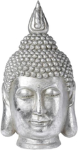 Buddha hoved - Sølvfarvet