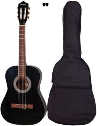 SantGuitars CJ-30L-BK barne-gitar, venstrehendt sort
