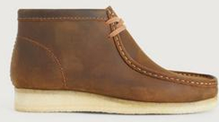 Clarks Boots Wallabee Boot Beeswax Brun