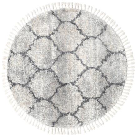 Meissa - Grå-beige mix / Dk.Grey matta Ø 150 Modern, Rund Matta