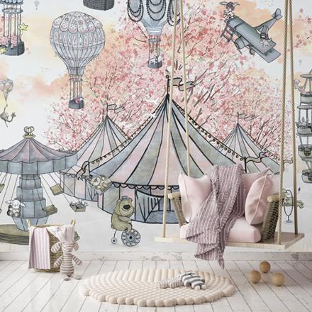 Kollektion Dreamy Lily's Circus & The Bridge, 360x265 cm