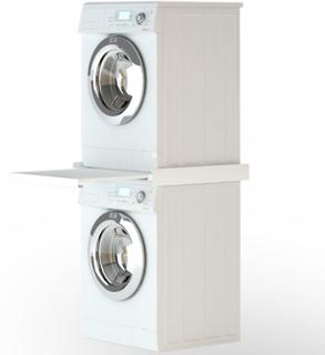 Stablesett for vaskemaskin med utrekkbar hylle