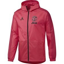 Manchester United Regnjakke Pink/Rød/Sort