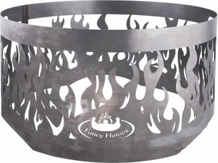 Esschert Design Eldring för eldfat grå stål FF415