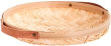 OYOY Sporta rund brødkurv med læderhank - bambus