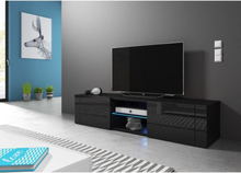 Vivaldi Furniture HIT TV bänk svart med LED belysning