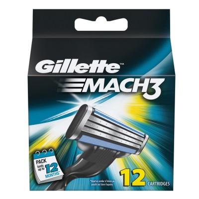 Gillette Mach3 Partateraet 12 kpl
