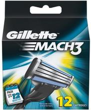 Gillette Mach3 Rakblad 12 st