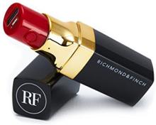Richmond & Finch 2600mAh Powerbank med läppstiftsdesign i svart färg