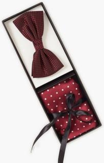 Amanda Christensen Pre Tie & Pocket Butterfly Bordeaux