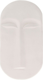 Mask väggdekoration stor Vit