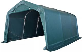 vidaXL flytteligt læskur til husdyr PVC 550 g/m² 3,3 x 4,8 m mørkegrøn