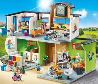 Inredd skolbyggnad - Playmobil City Life 9453