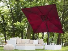 Beliani Parasoll 250 cm vinröd MONZA