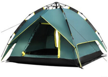 Backpacking Camping Tent, Lightweight 3-4 Persons Tent Double Layer Waterproof Portable Aluminum Poles Travel Tents Green Color