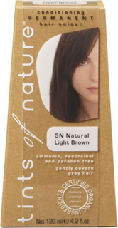 Tints of Nature Hårfarve 5N Light Brown - 120ml