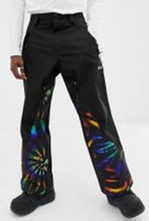 ASOS 4505 ski trousers with tie dye print - Multi