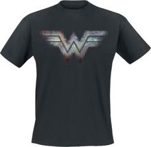 Wonder Woman - 1984 - Retro Logo -T-skjorte - svart
