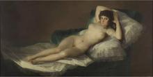 Steve Art Gallery The Naked Maja,Francisco Goya,80x40cm