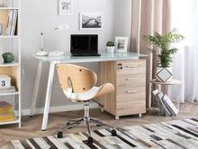 Beliani Työpöytä 130x60 cm valkoinen MONTEVIDEO